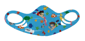 Kids Antimicrobial Spacer Face Mask - Ocean